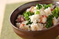 菜の花とタコの炊き込みご飯