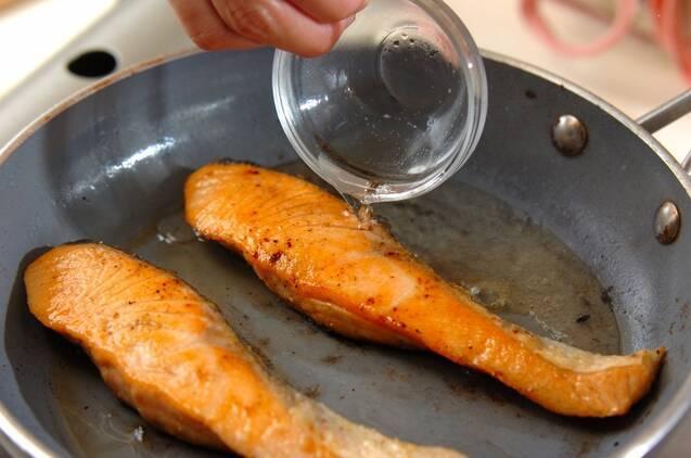 カレーソースがけサーモンソテーの作り方の手順8