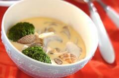 魚介のクリーム茶碗蒸し