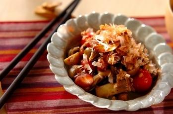 いろいろキノコと煮豆の炒め物