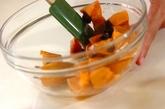 柿とグラノーラのデザートの作り方1