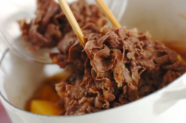 牛肉たっぷり肉じゃがの作り方の手順5