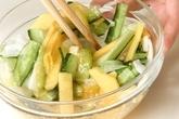 大根とキュウリの柿酢の作り方1