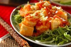 豆腐入りエビチリ