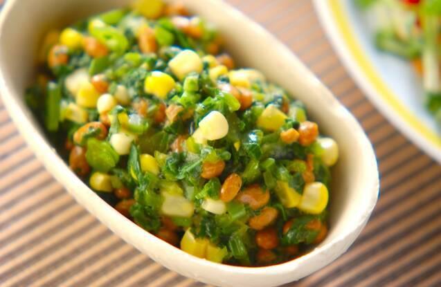 ツルムラサキ納豆