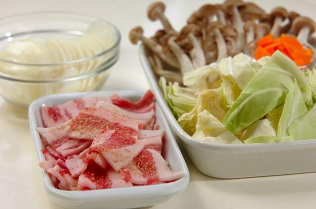 ふんわり卵入り野菜炒めの作り方の手順1