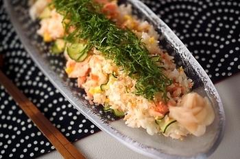 甘塩鮭の簡単混ぜずし