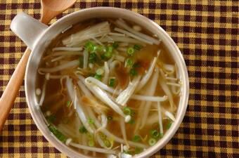 モヤシとザーサイのスープ