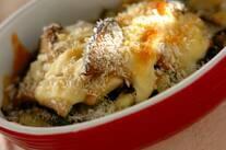 エリンギと小松菜のチーズ焼き