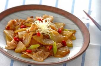 冬瓜と豚肉のショウガ炒め