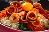 フライパンで海鮮ビビンバの作り方6