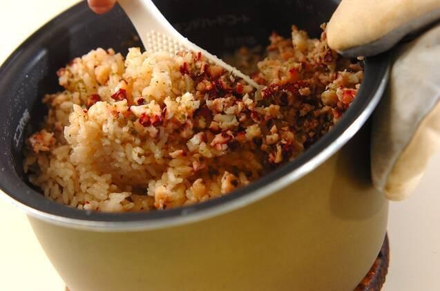タコとバジルのパエリア風炊き込みご飯の作り方の手順6
