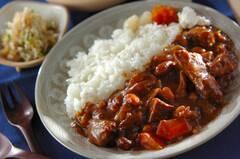 牛肉と豆のカレー