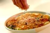 野沢菜漬けと厚揚げのお好み焼きの作り方4