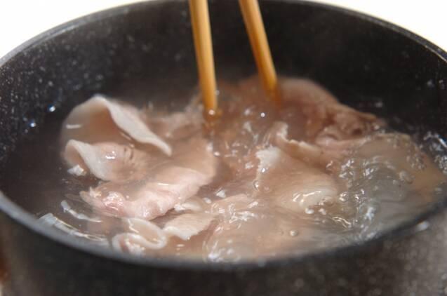 豚しゃぶとエノキのコチュジャン和えの作り方の手順3