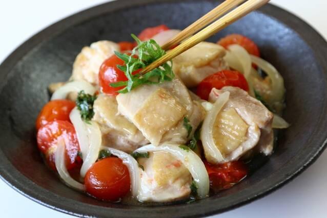 鶏肉とミニトマトの甘酢炒めの作り方の手順8
