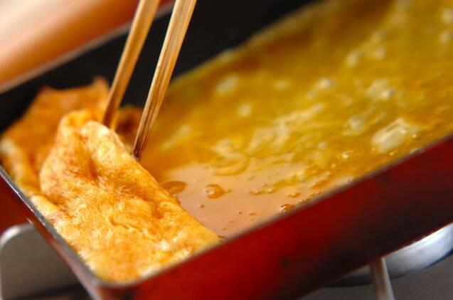 メープルシロップの卵焼きの作り方の手順4