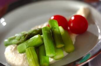 グリーンアスパラと豆腐マヨ