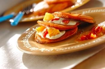メイプルトマトパンケーキ