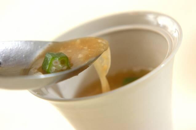 オクラ入りみそ汁の作り方の手順4