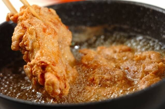 鶏もも肉のおいしい唐揚げの作り方の手順5