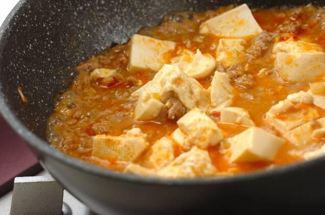 しびれる辛さ麻婆豆腐の作り方の手順4