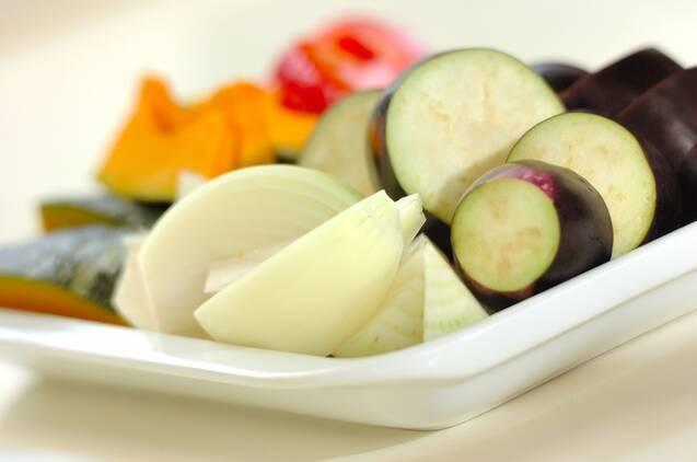 夏野菜の揚げ浸しの作り方の手順1