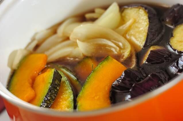 夏野菜の揚げ浸しの作り方の手順4