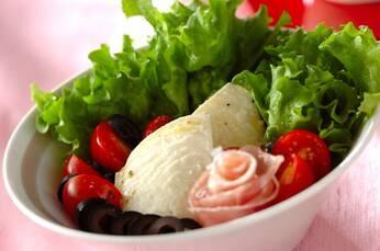 くずし豆腐の洋風サラダ