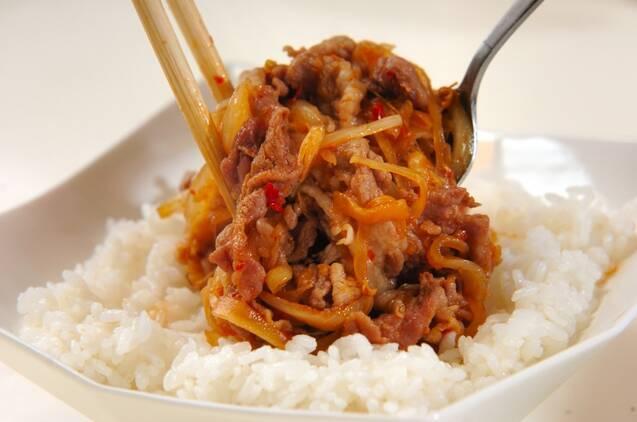 旨辛豚ショウガ焼き丼の作り方の手順4