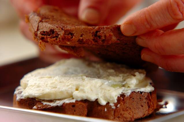 レンジで簡単チョコスポンジのケーキの作り方の手順10