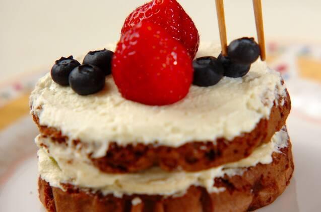 レンジで簡単チョコスポンジのケーキの作り方の手順11