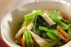 小松菜とちくわの簡単和え