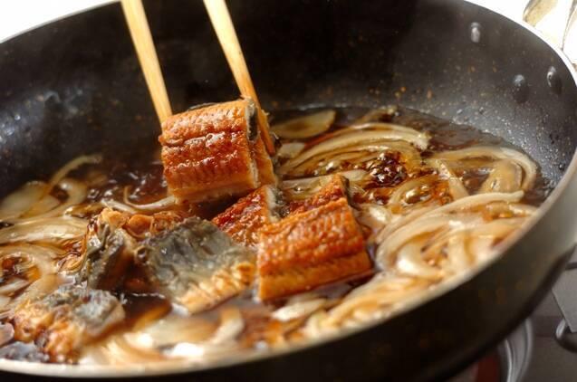 ウナ玉丼の作り方の手順4