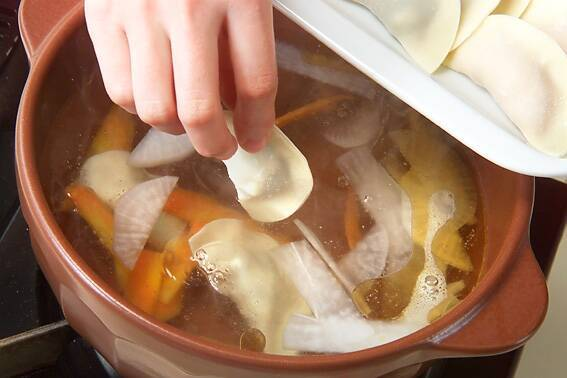 餃子つるりん鍋の作り方の手順9