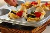 オイルサーディンとジャガイモの食パンカップの作り方3
