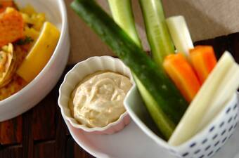 野菜のみそヨーグルトディップ