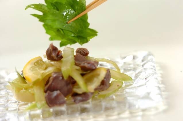 砂肝とセロリのナンプラー風味の作り方の手順4