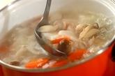 鶏と野菜の韓国風お粥の作り方4