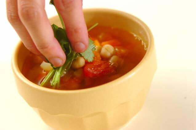 モロッコ風ヒヨコ豆のスープの作り方の手順7