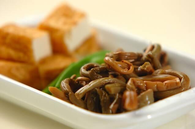 ゼンマイと厚揚げの煮物の作り方の手順1