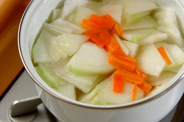 冬瓜のサッパリサラダの作り方の手順4