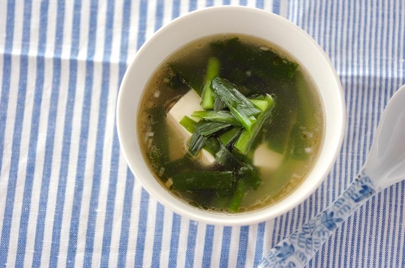 3. ニラたっぷりスープ