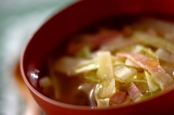 野菜のレンチンスープ