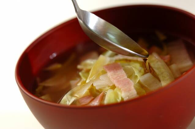野菜のレンチンスープの作り方の手順4