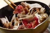 牛肉とシメジの黒コショウ炒めの作り方2