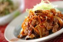豚肉と野菜のショウガ焼き