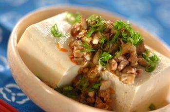 豆腐の肉そぼろがけ