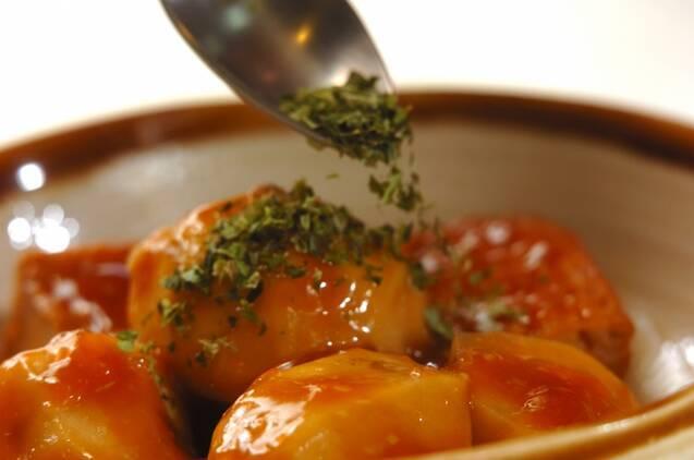 里芋と厚揚げのあんかけの作り方の手順4