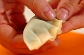 カブの葉餃子の作り方2